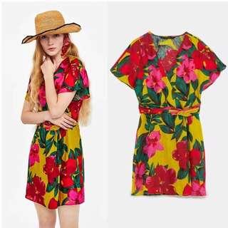 Floral String Mini Dress