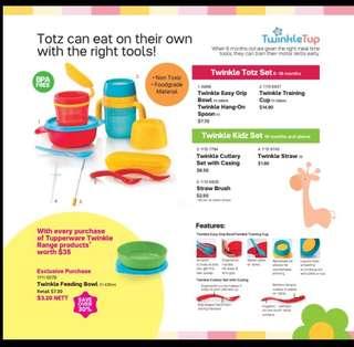 Twinkle tots & kids set from tupperware