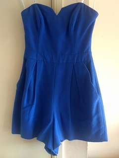 Forever New Blue Playsuit