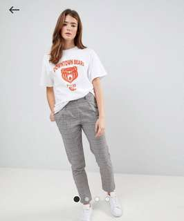 DAISY STREET CIGARETTE TROUSERS IN WALES CHECK