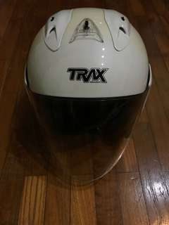 Trax Helmet TR03ZR (Motorcycle, White)
