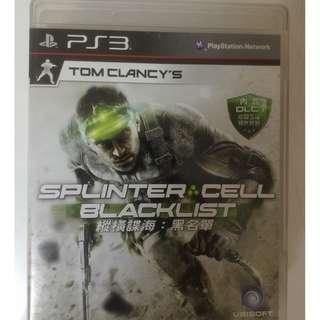中文版 縱橫諜海 黑名單 PS3 Splinter Cell Blacklist