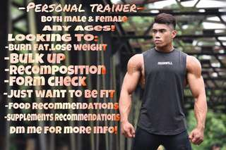 Personal Training ( Fat loss/ Gain size)