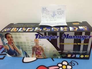 Thumper massager (alat pijat) ini blom sma skli dipkai,garansi pun msh ad bbrp bulan lgi