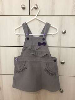Corduroy Grey overalls (12-18mths)