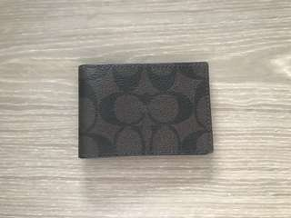 Coach monogram mini card holder wallet 咭片套