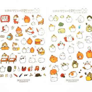 🌟BN INSTOCKS Adorable Fat Rice Bean White Bunny Stickers Pack