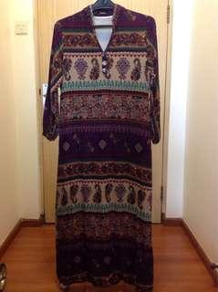 Long dress motif Bohemian