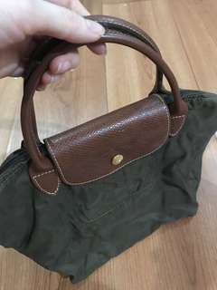Authentic Longchamp green small bag