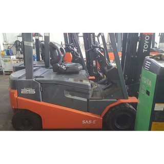Electric seat on forklift