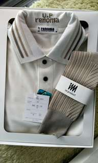 U.P Renoma polo shirt and sock