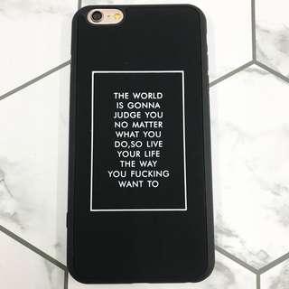 Good quotes design case iPhone 6P/6SP
