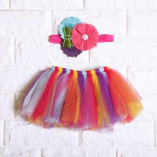 🚚 Instock - 2pc multicolored tutu set, spring summer 2018 collection