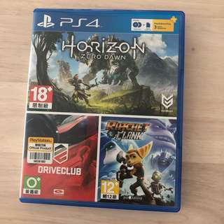 PS4 games - horizon zero dawn / driver club