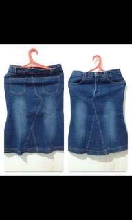 Skirt jeans levis preloved
