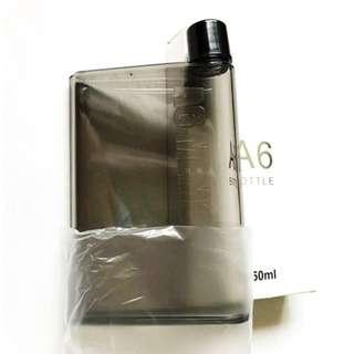 BNIB A6 Memo Bottle Clear Flat Slim Water Bottle
