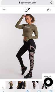 GYMSHARK Burnout Leggings S (10-12)