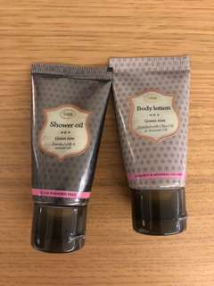 Brand new SABOR Shower Oil + Body Lotion (Green Rose) 全新