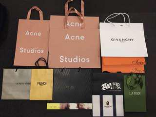 Selection of paper bags