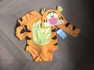 全新 Disney tiger baby romper tee hat 迪士尼跳跳虎造型連體衣