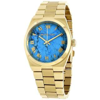 CHANNING TURQUOISE DIAL GOLD-TONE LADIES WATCH MK5894