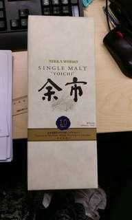 日本威士忌 余市10年 nikka yoichi whiskey (靚盒,全新)
