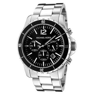 CHRONOGRAPH BLACK DIAL STAINLESS STEEL MEN'S WATCH MK8140