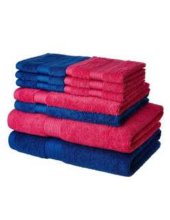 Solimo 100% Cotton 10 Piece Towel Set, 500 GSM
