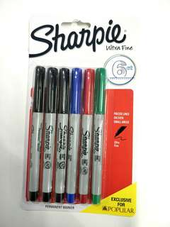 Sharpie Ultra Fine 6ct Permanent Markers 5's