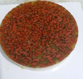 杞子桂花慕斯蛋糕