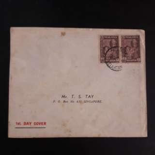 Kelantan 1961 First Day Cover