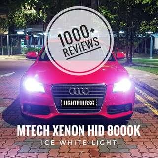 8000k bluish white xenon HID bulb for VW Volkswagon GTI AUDI A3 A4 A5 A6 Q3 Q5 BMW F30 F10 Honda FD2R Mercedes Philips Osram Size: D1S D2S D3S D4S D2R