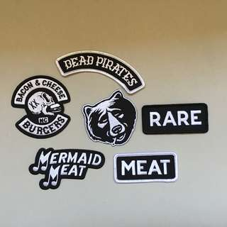 MCBESS Mermaid Meat Dead Pirates Iron On Patch