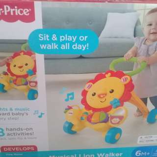 NEW FISHERPRICE MUSICAL LION WALKER