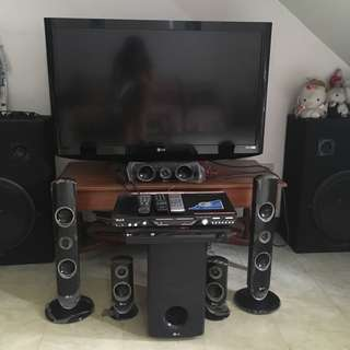 LG TV Set with Home Theatre (Free Karaoke)