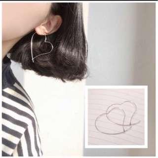 Love earrings hoop