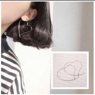 Love earrings hoop