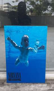 NIRVANA NEVERMIND FRAMED PRINTED POSTER