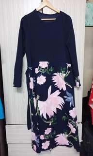 Floral Jubah Dress