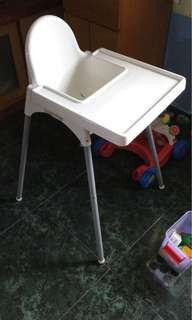 [PRICE DROP TO $12] IKEA ANTILOP Highchair With Tray - Excellent Condition!