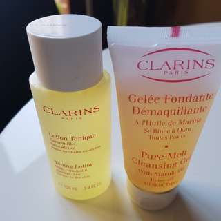 Clarins Toner and Cleansing Gel. NEW