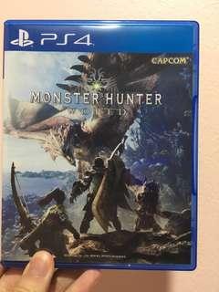 Ps4 Monster Hunter World R3 Eng