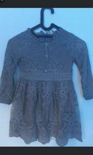 Dress anak bruckat grey