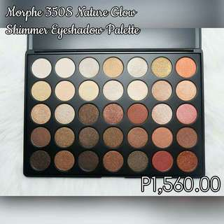 Morphe 350S nature glow shimmer eyeshadow palette