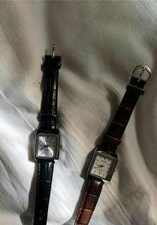 🚚 CASIO皮革方型手錶
