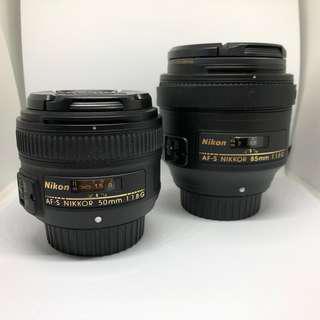 Nikon 50 & 85mm 1.8g