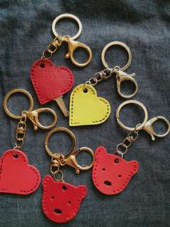 Handmade real leather key chain key holder