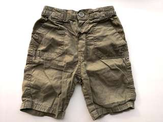 PRELOVED COTTON ON BABY Boy's Khaki Green Cotton 3/4 Pants - in very good condition