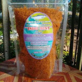 Abon ikan salmon ready stock. 1 paket isi 2 pcs