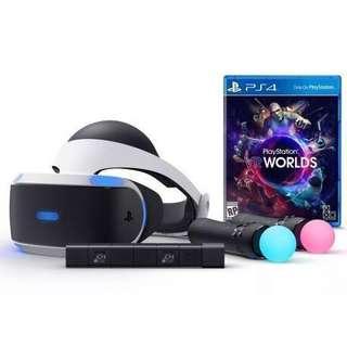 PlayStation VR set (Camera + 2 Motion controller + VR world game)